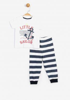 Πιτζαμα Παιδικη Βρεφικη Little Sailor