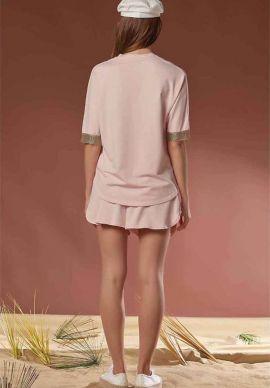Σετ Σορτσακι - Μπλουζα Light Pink Sevim