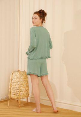 Φορμα Γυναικεια Με Σορτσακι Pistachio Comfort