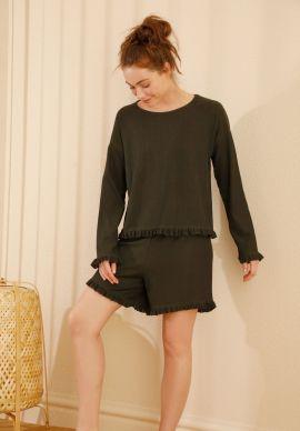 Φορμα Γυναικεια Με Σορτσακι Olive Comfort