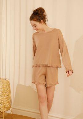Φορμα Γυναικεια Με Σορτσακι Beige Comfort