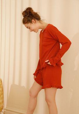 Φορμα Γυναικεια Με Σορτσακι Κεραμιδι Comfort