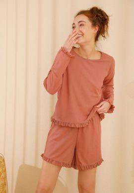 Φορμα Γυναικεια Με Σορτσακι Dark Pink Comfort
