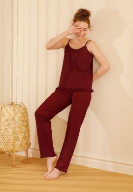 Φορμα Γυναικεια Με Τιραντα Dark Red Comfort