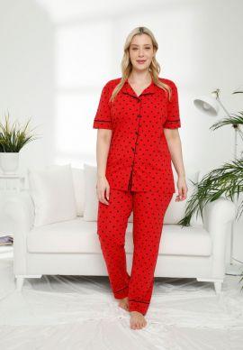 Πιτζαμα Γυναικεια Plus Size LadyBug