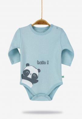 Κορμακια Βρεφικα Panda Boy Blue Biorganic