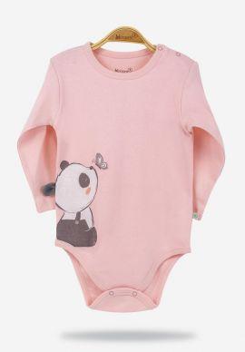 Κορμακια Βρεφικα Panda Girl Pink Biorganic