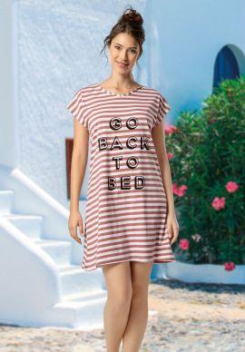 Φορεμα Γυναικειο Κοντομανικο Ριγε