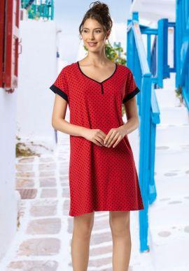 Φορεμα Γυναικειο Κοντομανικο Πουα
