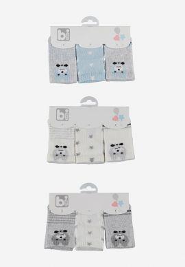 Καλτσακια Βρεφικα Bi Baby Bear Pack