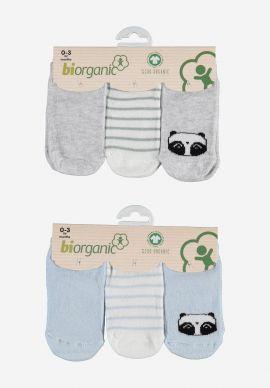 Καλτσακια Βρεφικα Biorganic Cotton Panda Pack