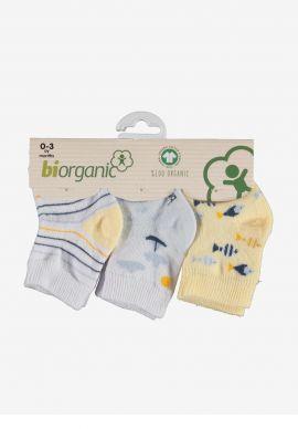 Καλτσακια Βρεφικα Biorganic Cotton Sea Pack