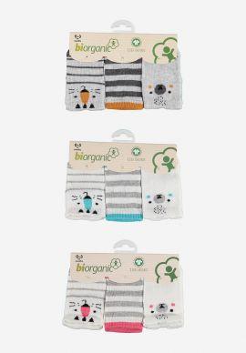 Καλτσακια Βρεφικα Biorganic Cotton Lovely Pack