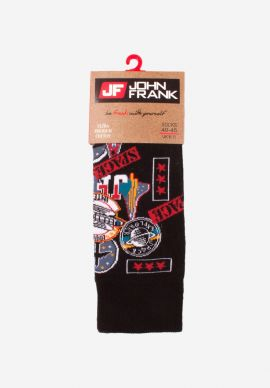 Καλτσα Ανδρικη Space Black John Frank