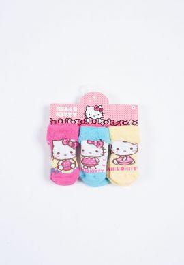 Καλτσακια Πετσετε Με Ταπες Hello Kitty Τριπλετες