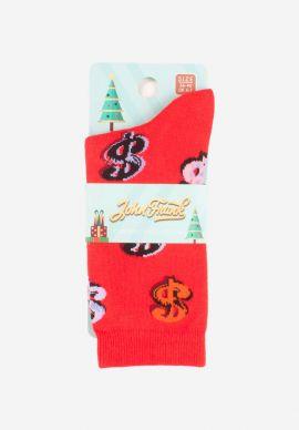 Καλτσα Γυναικεια Christmas Dollars John Frank