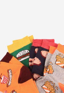 Καλτσες Ημίκοντες  Γυναικειες Food Lover Pack