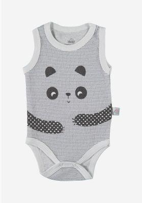 Βρεφικο Κορμακι Χωρις Μανικι Panda Hugs